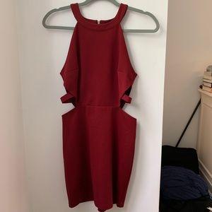 Tobi Bodycon Cut Out Red Dress